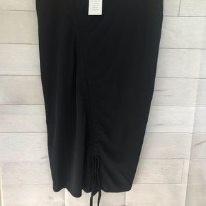 NEW!! Eloquii Black pencil skirt with rushing